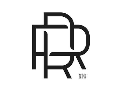 RR. lettering typography monogram illustration graphic design logo