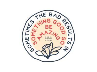 Be Amazing. flower lettering typography badge illustration graphic design logo