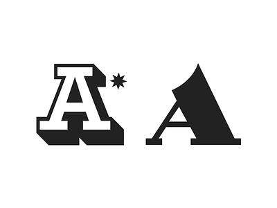 Letter A. lettering typography illustration graphic design logo