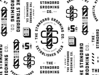The Standard Grooming Co. icon ui black branding type badge lettering typography illustration design logo graphic design