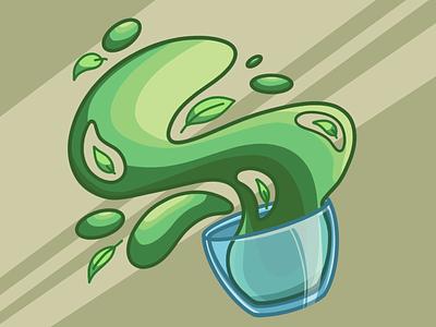 Green tea tea green tea artwork art illustration art illustration