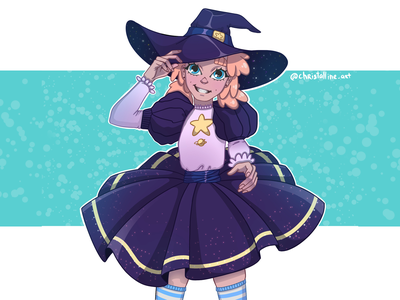 Witch concept character witch girl cartoon artwork art illustration art illustration