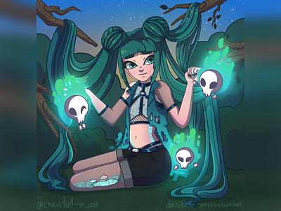 Evil or not? concept girl character personage cartoon girl art artwork illustration art illustration