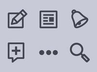 Quora Navigation Icons