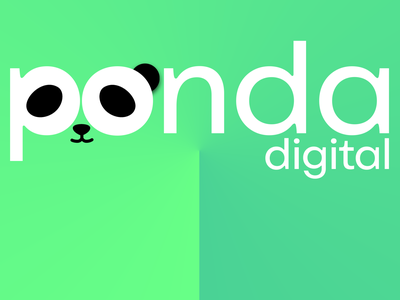 Panda Digital 🐼 logo symbol brand vector icon digital panda design
