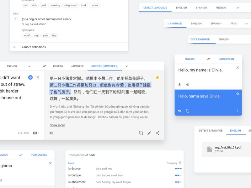 Google Translate Web UI ui ui elements ux design google google design google translate translate redesign translation web