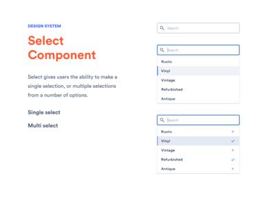 Design System - Select component