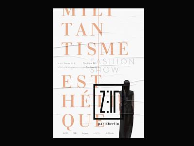 """Event Poster """"Zeit"""" fashion fashion logo logodesign fashion show typographic poster typography poster design poster fashion poster fashion label"""