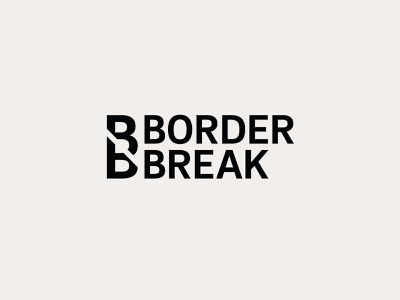"Random Logo ""Border Break"" logos logo design concept logo designer logotype break broder logo design logo"