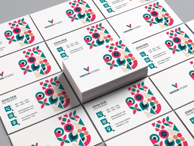 Business card - Visiting Card typography photoshop business card colorful brand business card template creative design corporate identity cymk print ready businesscard corporate branding psd template logodesign brand identity trending design pattern print design visitingcard business card design