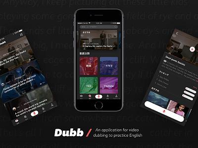 Dribbble debut | Dubb Concept interface video dark debut interactive design ux ui