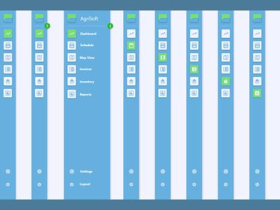 Agriculture Software - Dashboard Side bar web saas website minimal ui ux ideation design
