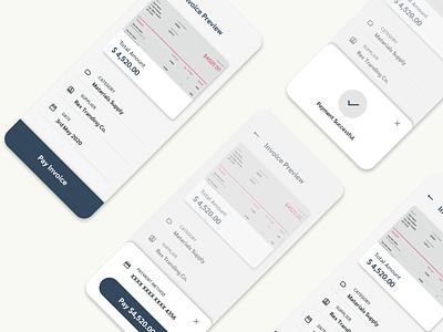 Invoice Payments App mobile design payments payment app ux design