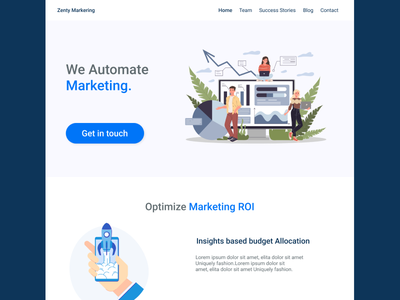 Marketing Agency ideation ux marketing site marketing agency landing page design