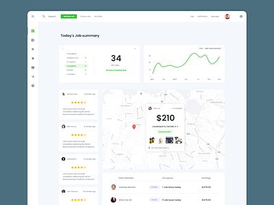 Field Services Management (SaaS) dashboard ui saas website ui ideation ux design
