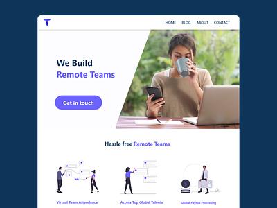 Concept design - Remote HR Solutions ui hr software landing page ideation ux design