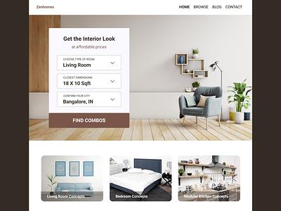Interior Combos Website website concept ui ux research ideation design