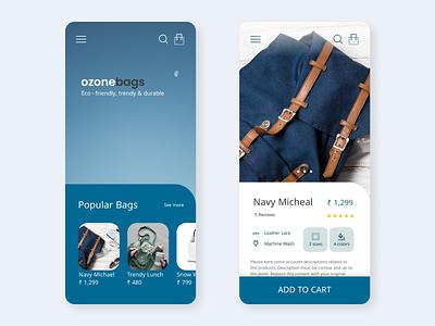 Eco-friendly bag eCommerce ecofriendly ecommerce ui ideation ux