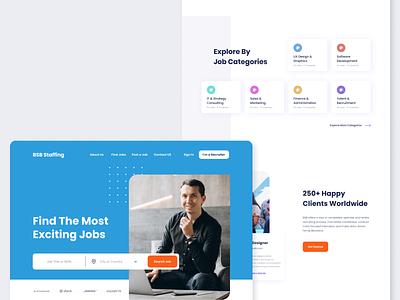 Staffing Agency Website agency website job board ui ideation design ux