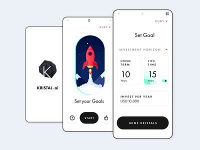 Investment Portfolio Planning finance app minimal ideation design ux