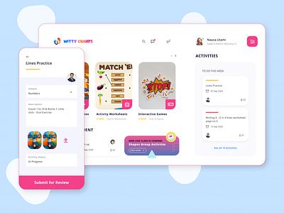 Pre school eLearning Platform kids elearning minimal ideation design ux