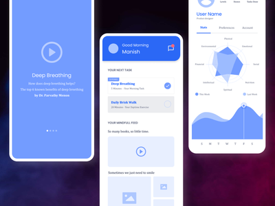 Wireframes   Preventive Mental Health App health app app minimal ideation ux