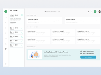 SaaS Reports & Custom Reports reports web saas design ideation ux