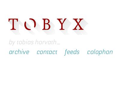 tobyx.com website 2017 logo website header