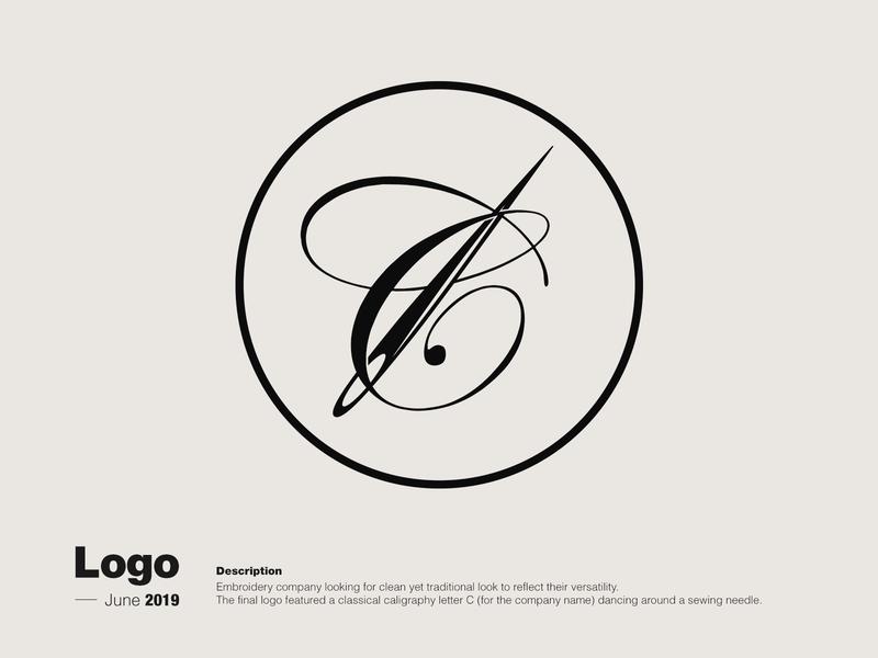 Logo Creation - Embroidery Company illustrator minimal flat branding design illustration logo