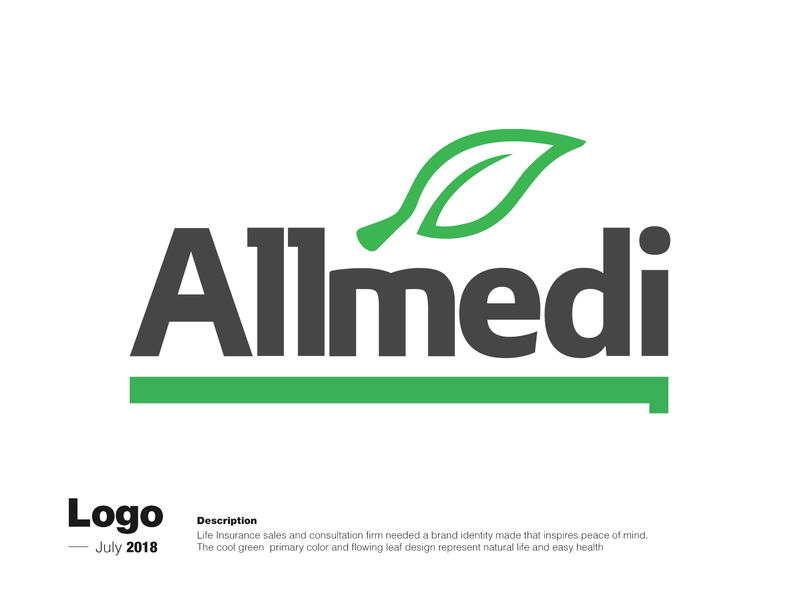 Logo Creation - Life Insurance illustrator vector minimal logo flat design branding