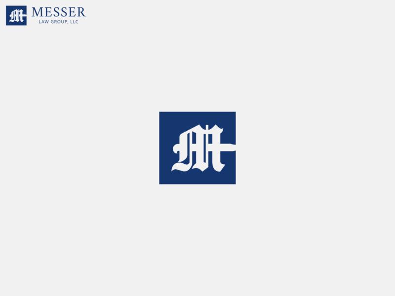 Messer Law Monogram Logo monogram flat illustrator vector design branding logo