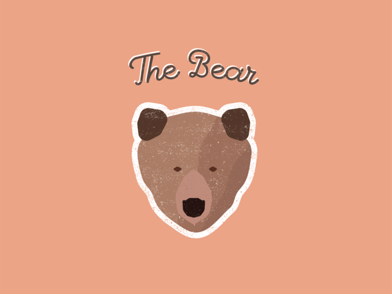 Bear experimental grunge brown bear illustration design designer