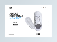 Adidas Superstar Home photography website ui ux web ui design uxdesign baby shoes adidas ui ux ui ux