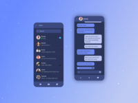 Chat  - Inspired by a song gradients blueux blue gradient app icon vector uidesign typography mobile ui uxdesign ux design ui