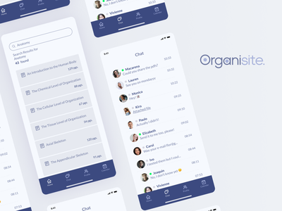 Organisite - Organizer for highschool students uidesign app search results chat school students organizer ux ui mobile mobile ui uxdesign design