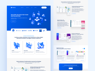 Redesign - Feedloop Company Landing Page branding website web design landing page company ux design ux design user interface design user interface uiux ui  ux ui design uidesign ui