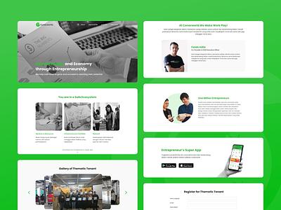 Conecworld Company Profile Website startup landing page company profile website design web design user experience design ux design ux user interface design user interface ui design uidesign ui