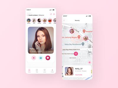 Dating App Exploration like4like exploration mobile app mobile design dating design ui  ux uiux user interface design user interface ui design uidesign ui
