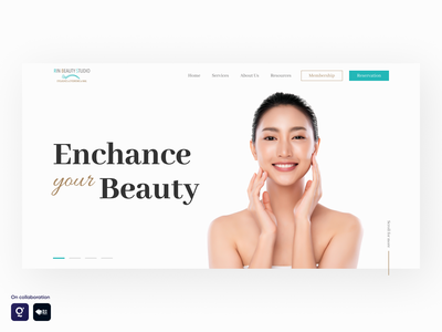 Daily UI - Hero Page woman beauty hero page landing page daily ui timedoor graphic design design ui  ux uiux user interface design user interface ui design uidesign ui