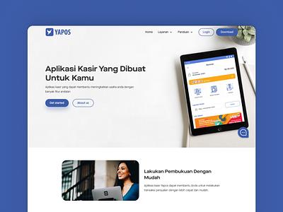 YAPOS Point of Sales - Website Company Profile figma landing page website cashier pos company profile design ui  ux uiux user interface design user interface ui design uidesign ui