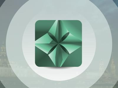 Happenings App Icon cootie catcher green happening icon app app icon