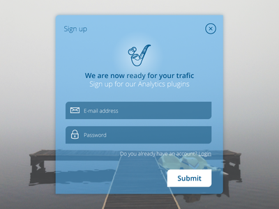 Daily UI Challenge - Day #001 - Sign Up  challenge signup ui daily dailyui