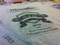 Movember t-shirt design