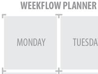 Post-it note calendar planner