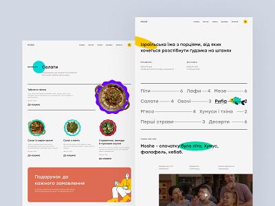 Restaurant Web UI Concept delvery food restaurant design illustration web desktop