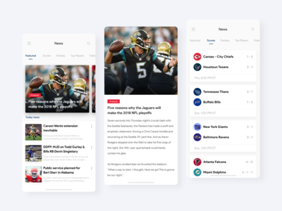 NFL App Mobile Concept