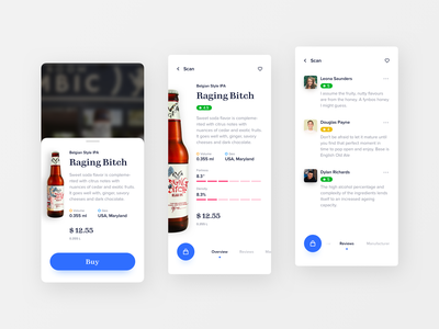 Craft Beer Companion clean app design shopping craftbeer beer augmented reality ui design mobile ios