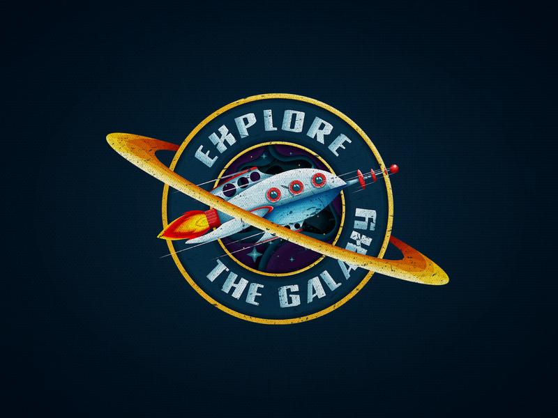 Explore the Galaxy galaxy space typography photoshop vector art vectors vector illustration illustration art illustration illustrator logodesign logotype logo vectorart vector