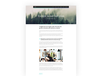Single Post Page - South Template website layout hero minimalist article single post post blog
