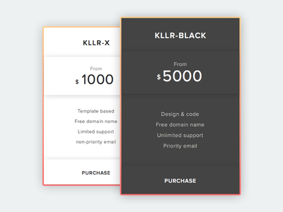 Pricing - Daily UI #030 (Sketch File) minimalist freebie sketch sketch app pricing table table pricing 030 dailyui
